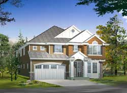 Traditional Style Home Design Plan: 88-589