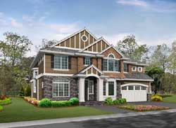 Hampton Style Home Design Plan: 88-591