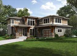 Prairie Style Home Design Plan: 88-596
