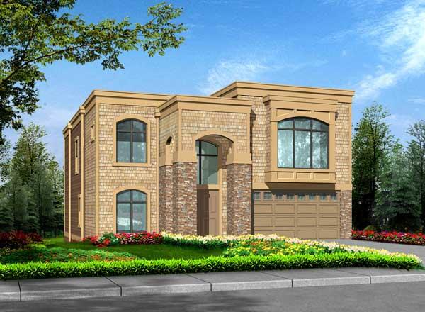 European Style Home Design Plan: 88-602