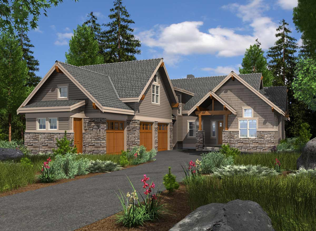 Craftsman Style Home Design 88-603