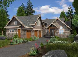 Craftsman Style Home Design Plan: 88-603