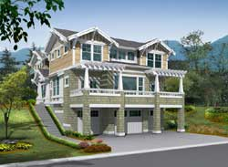 Craftsman Style Home Design Plan: 88-604