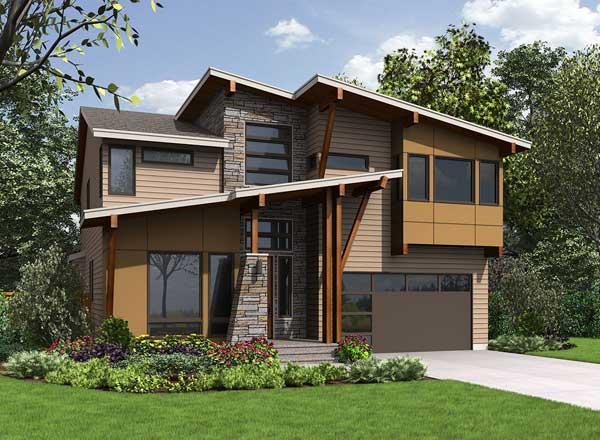 Modern Style House Plans Plan: 88-606