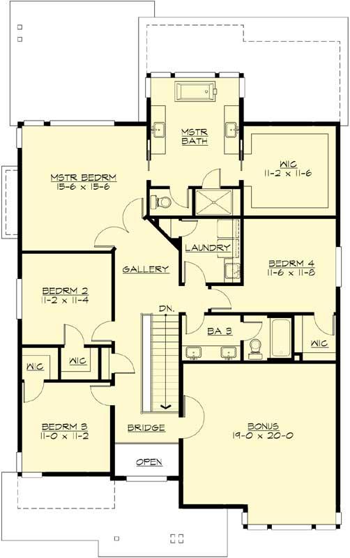 Upper/Second Floor Plan: 88-606