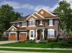 Shingle Style Home Design Plan: 88-616