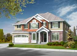 Traditional Style Home Design Plan: 88-618