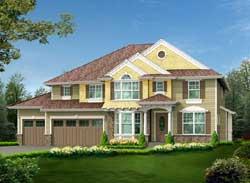 Hampton Style Floor Plans Plan: 88-629