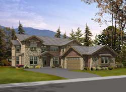 Mountain-or-Rustic Style Floor Plans Plan: 88-634