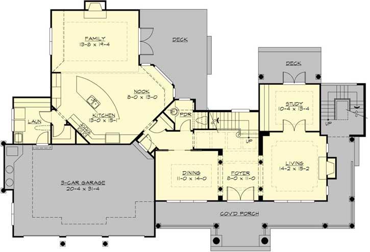 Main Floor Plan: 88-642