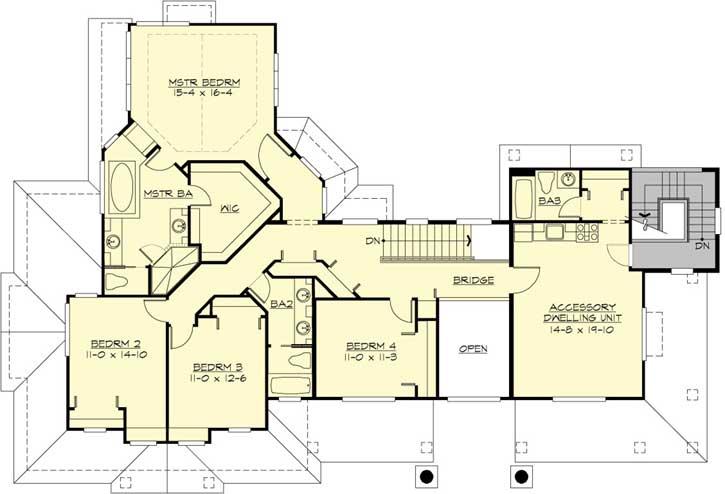 Upper/Second Floor Plan: 88-642
