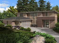 Modern Style Floor Plans Plan: 88-646