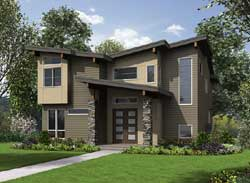 Modern Style House Plans Plan: 88-647