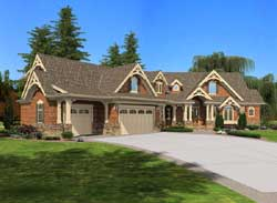 Mountain-or-Rustic Style Home Design Plan: 88-650