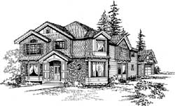 Hampton Style Home Design Plan: 88-653