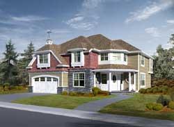 Hampton Style House Plans Plan: 88-656