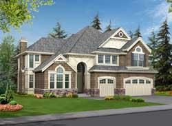 Hampton Style Home Design Plan: 88-663