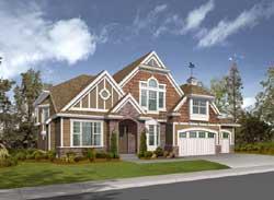 Hampton Style Home Design Plan: 88-664