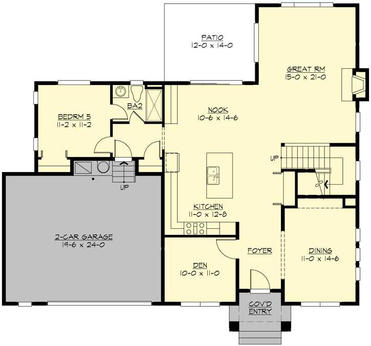 Main Floor Plan: 88-666