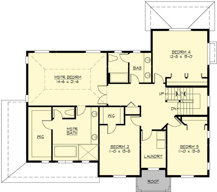 Upper/Second Floor Plan: 88-666
