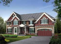 Hampton Style Home Design Plan: 88-670