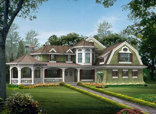 Hampton Style House Plans Plan: 88-672