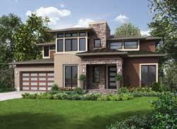 Modern Style House Plans Plan: 88-677