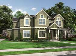 Shingle Style Home Design Plan: 88-682