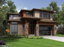 Modern Style House Plans Plan: 88-685