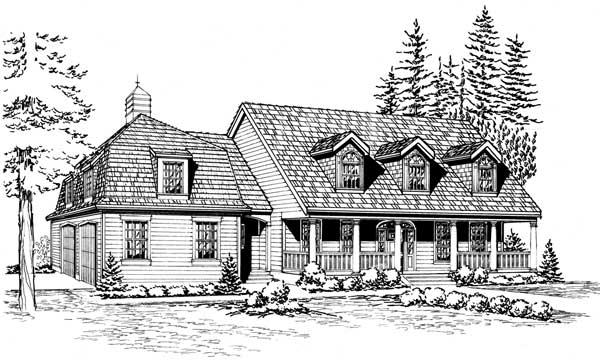 Cape-cod Style House Plans Plan: 88-686