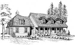 Cape-Cod Style Home Design Plan: 88-686