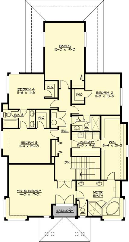 Upper/Second Floor Plan: 88-690