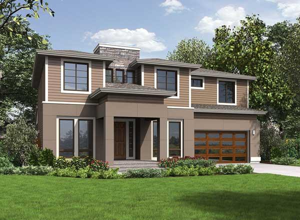 Modern Style House Plans Plan: 88-694