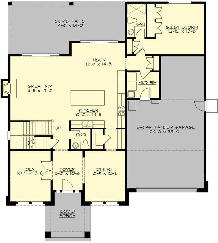 Main Floor Plan: 88-694