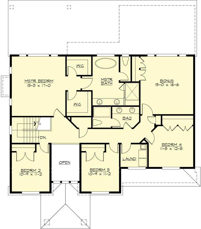 Upper/Second Floor Plan: 88-694