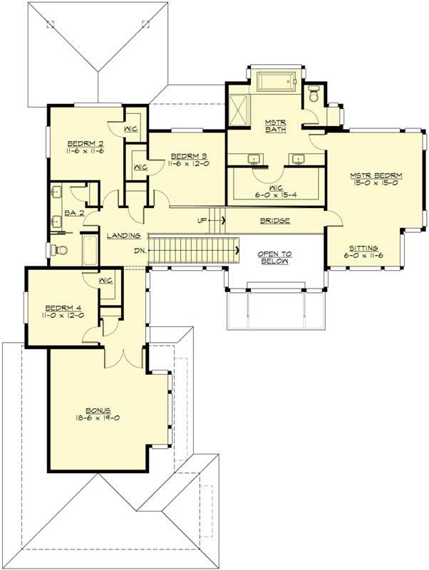 Upper/Second Floor Plan: 88-695