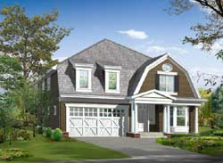 Hampton Style Home Design Plan: 88-696