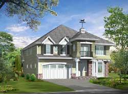Hampton Style Home Design Plan: 88-699