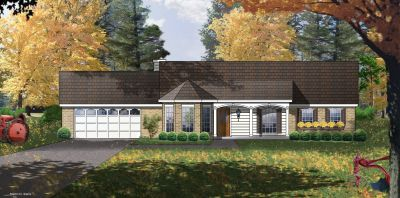 Ranch Style Home Design Plan: 9-101