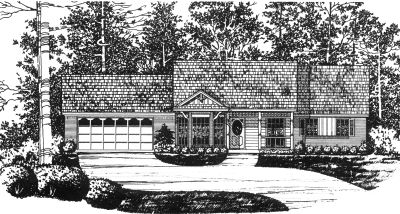 Country Style Home Design Plan: 9-102