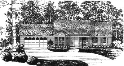 Traditional Style Home Design Plan: 9-103