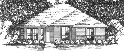 Traditional Style Home Design Plan: 9-104