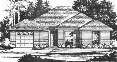 Traditional Style Home Design Plan: 9-105