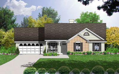 Country Style Home Design Plan: 9-107