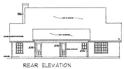 Rear Elevation Plan: 9-109