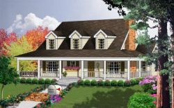 Country Style House Plans Plan: 9-109