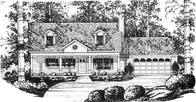 Country Style House Plans Plan: 9-115