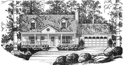 Country Style Floor Plans Plan: 9-116
