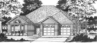 Traditional Style Home Design Plan: 9-117