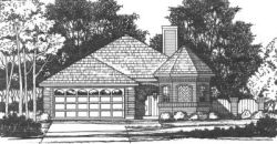 Traditional Style Home Design Plan: 9-121
